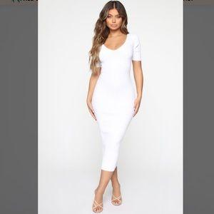 Kayla Sweater Dress - White